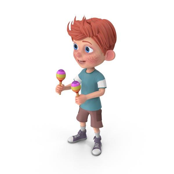 Thumbnail for Cartoon Boy Charlie Playing Maracas