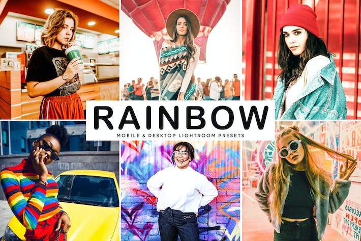 Thumbnail for Rainbow Mobile & Desktop Lightroom Presets