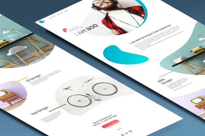 Thumbnail for Personal Website CV Resume Template