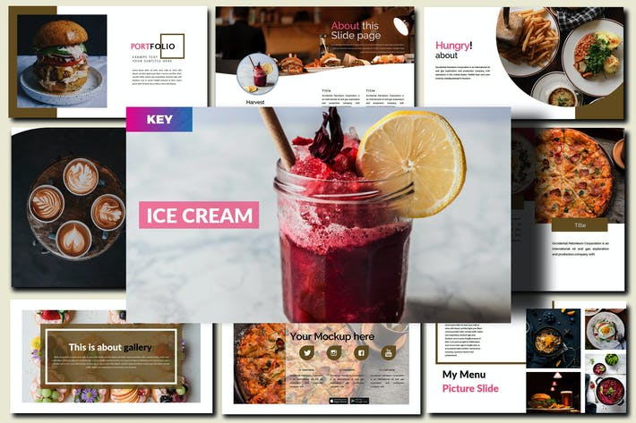Thumbnail for Delicious Food Keynote Template