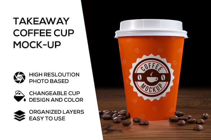 Thumbnail for Takeaway coffee cup mockup