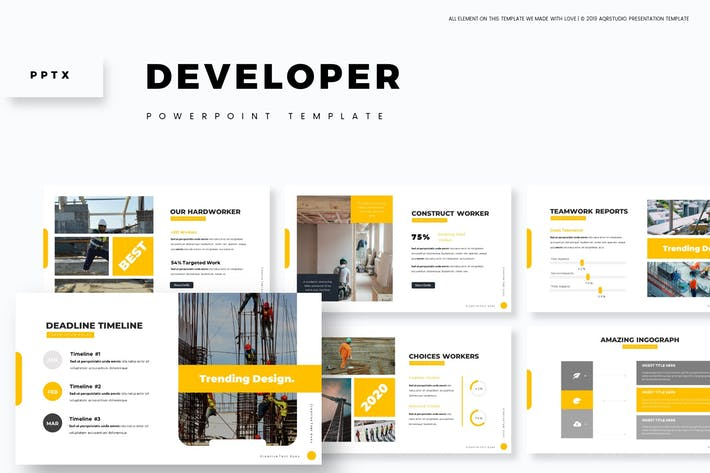 Cover Image For Developer - Powerpoint Template