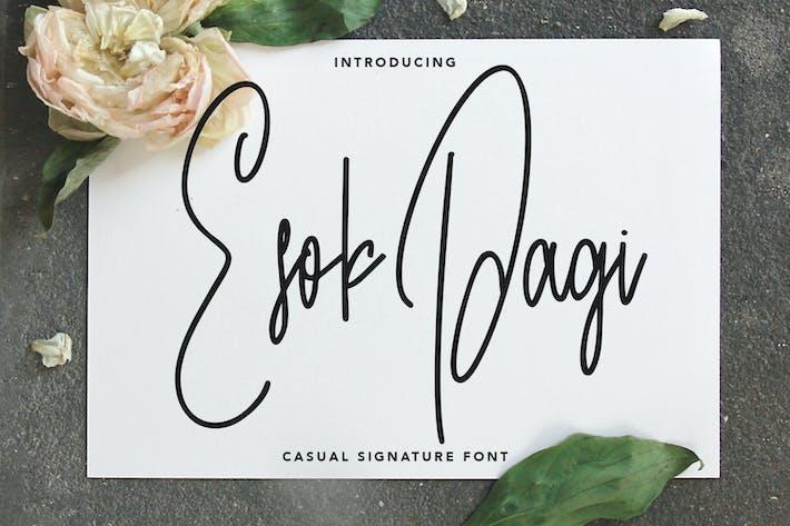 Thumbnail for Случайный шрифт подписи Esok Pagi