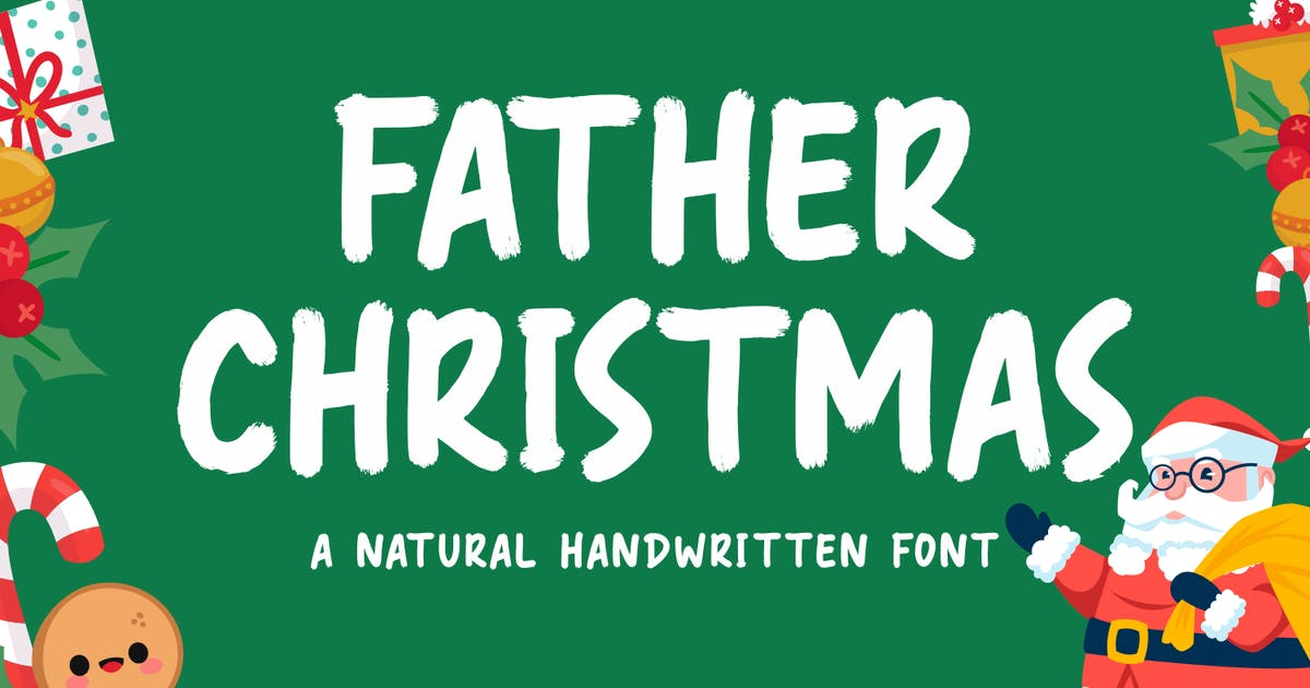 Download Father Christmas - Natural Handwritten Font by CocoTemplates