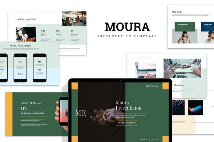 Thumbnail for Moura : Digital Marketing Pitch Deck Powerpoint