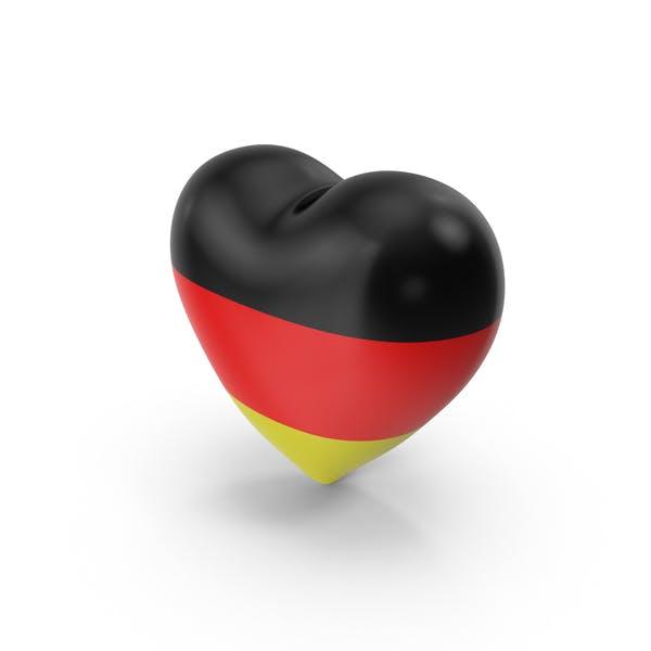 Deutschland Flagge Herz