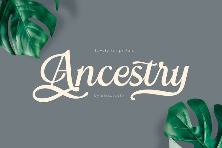 Thumbnail for ANCESTRY - Retro Script