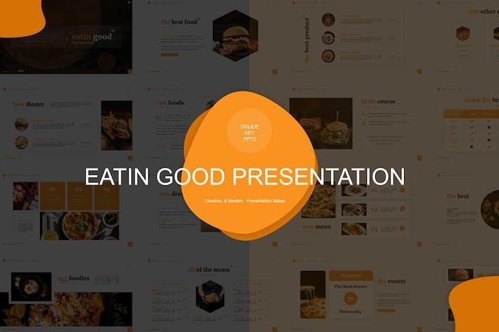 Thumbnail for Eatin Хороший Шаблон презентации