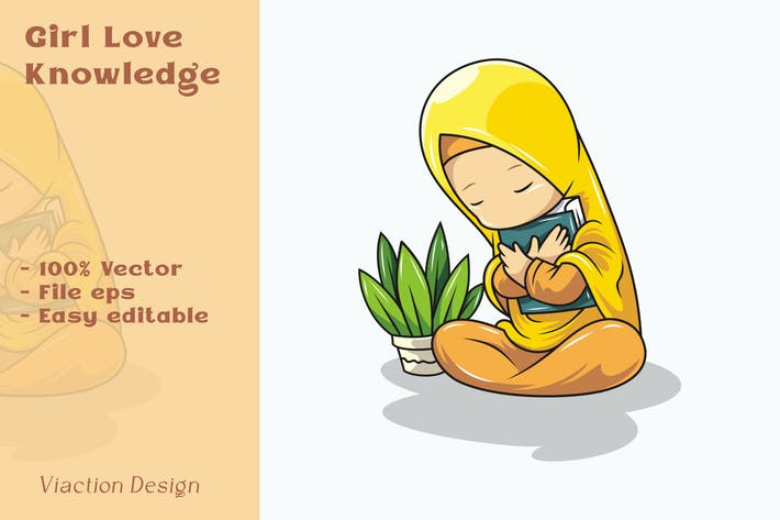 DV - Girl Love Knowledge Illustration
