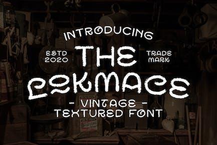 Lokmace Vintage Texture Font - Fuente