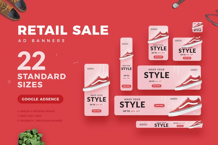 Thumbnail for Retail Sale Web Ad Banners