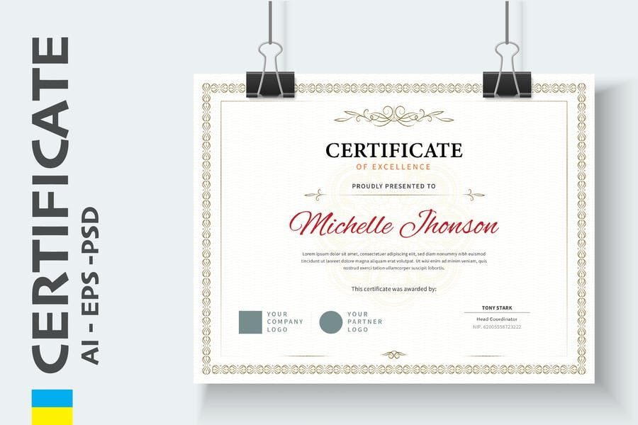 Classic Vintage Certificate / Diploma Template