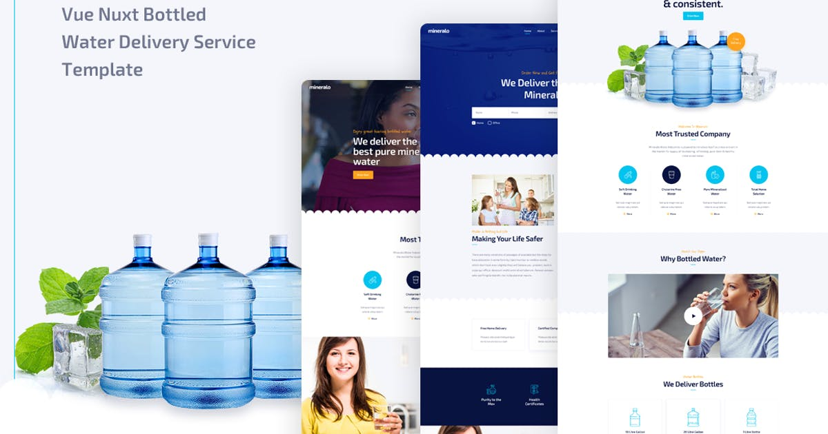 Download Mineralo - Vue Nuxt Bottled Water Delivery Service by Layerdrops