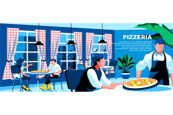 Thumbnail for Pizzeria Flat Concept Landing Page Header