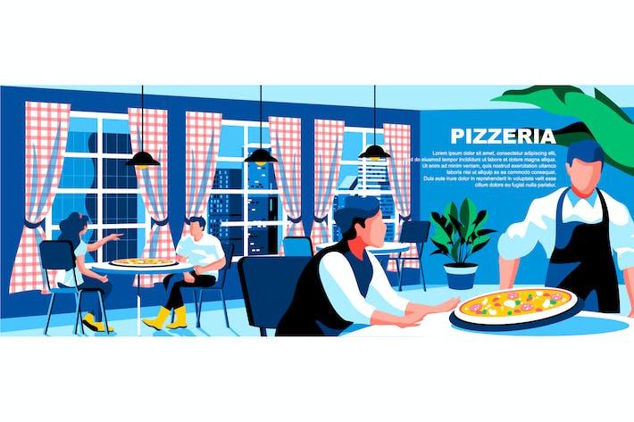 Thumbnail for Pizzeria Flat Concept - Cabecera de página de inicio