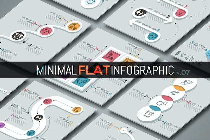 Thumbnail for Minimale flache Infografik v.07