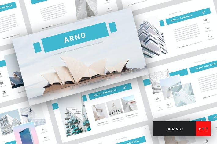 Thumbnail for Arno - Architektur PowerPoint Vorlage