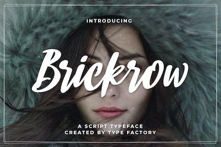 Brickrow - Script Typeface