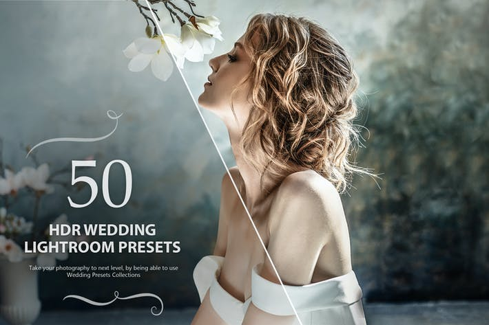 Thumbnail for 50 HDR Wedding Lightroom Presets