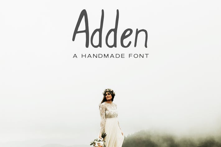Thumbnail for Adden Handmade Sans Serif Font