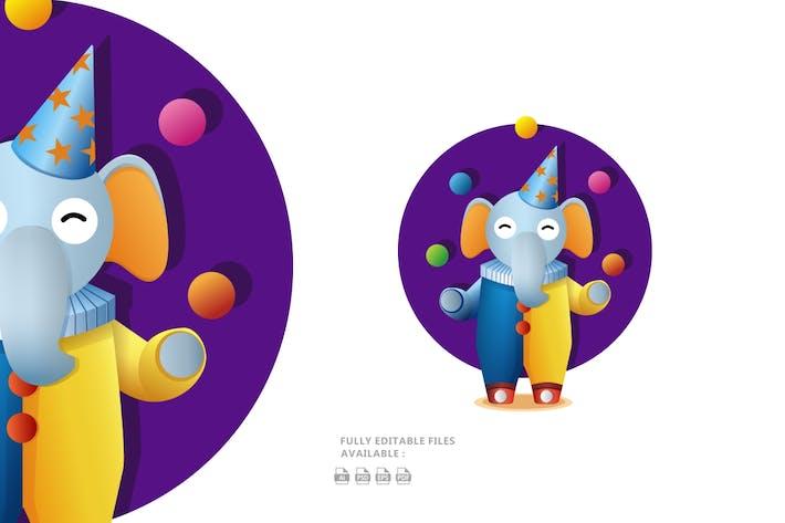 Thumbnail for Cute Cartoon Elephant Illustration