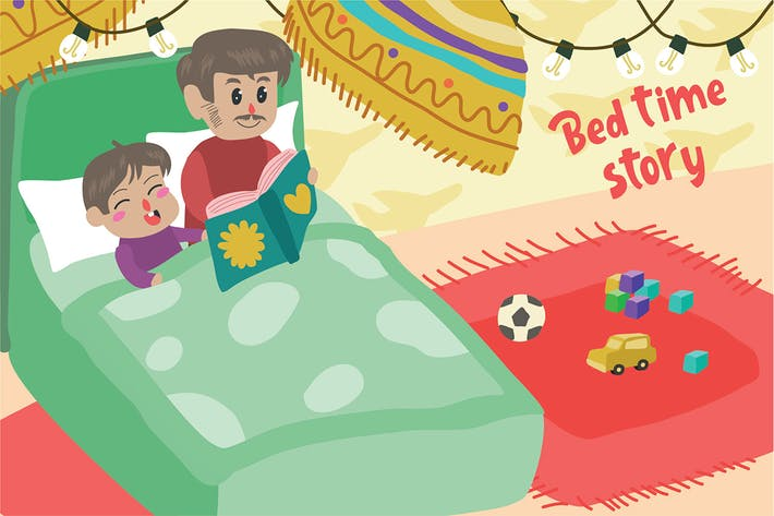 Thumbnail for Bed Time Story - Vector Illustration