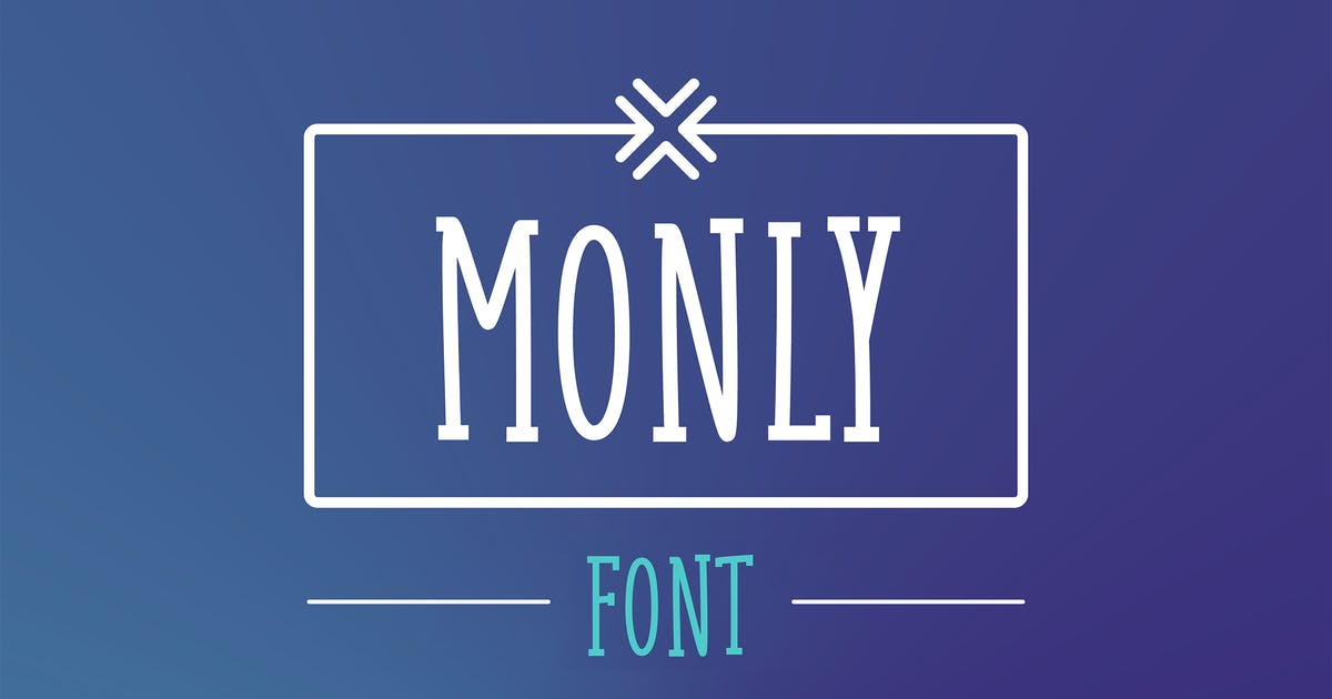 Download Monly Font by WildOnes