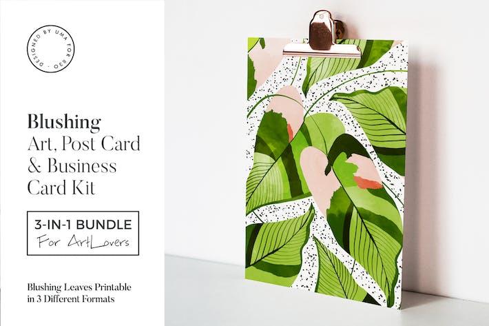 Cover Image For Blushing Leaves Art & Stationary Kit
