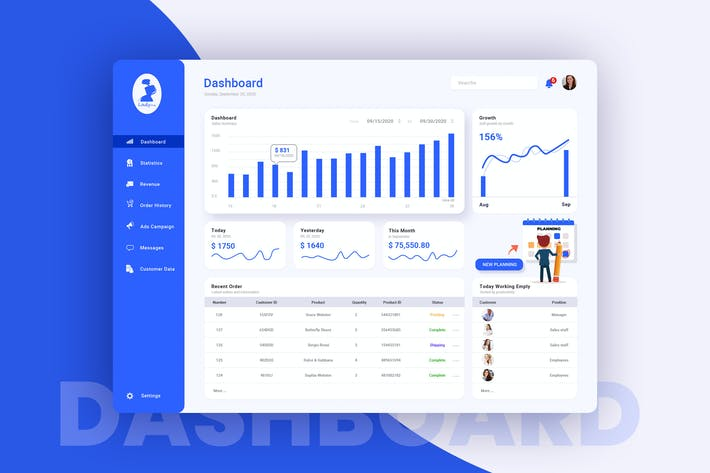 Thumbnail for Fashion Shop Admin Dashboard UI Kit
