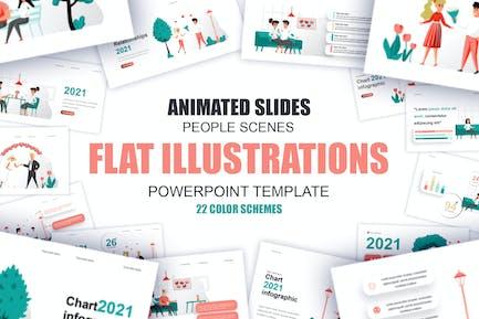 Plantilla de Powerpoint de ilustración plana