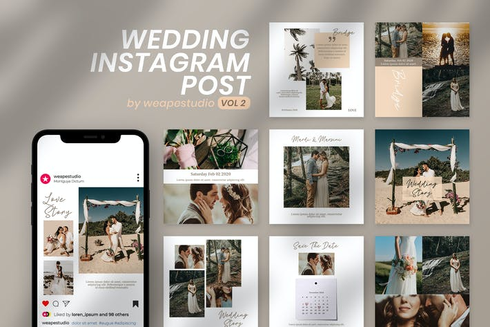 Thumbnail for Wedding Instagram Post Vol 2