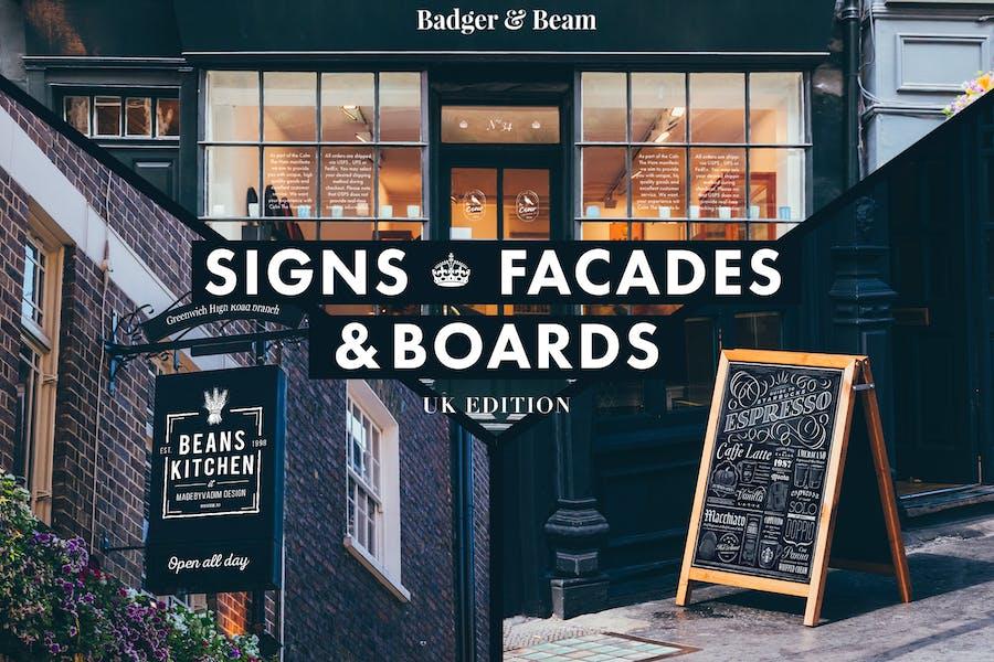 Signs & Facades Mockups (UK edition)
