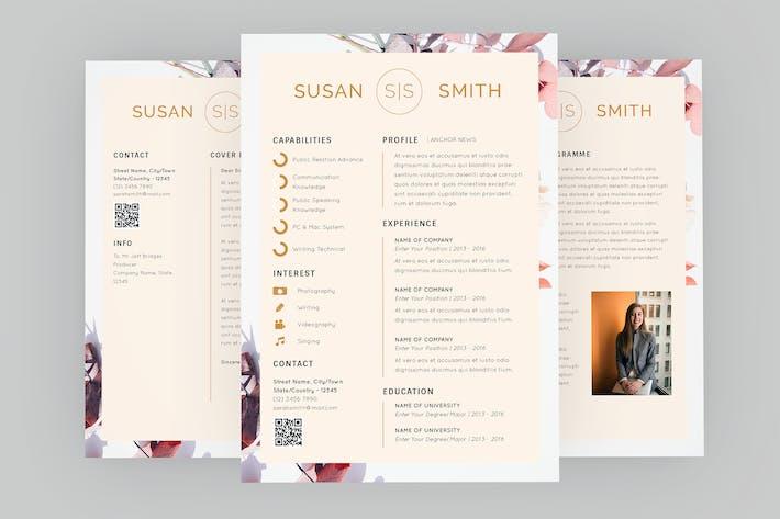Thumbnail for Susan Anchor Resume Designer