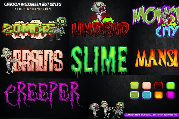 Thumbnail for Cartoon Halloween Text Styles