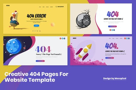 Ultimate Creative 404 Pages For Website Template
