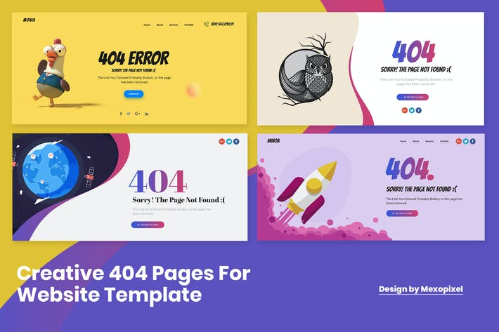 Thumbnail for Ultimate Creative 404 Pages For Website Template