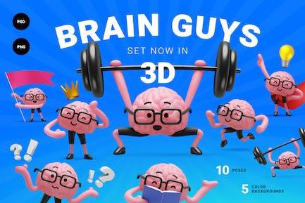 3d brain guys. Character set