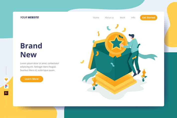 Thumbnail for Brand New - Landing Page