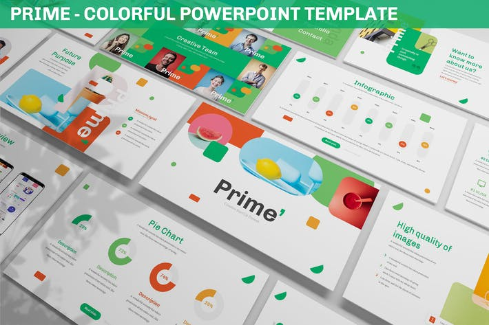 Prime - Colorful Powerpoint Template