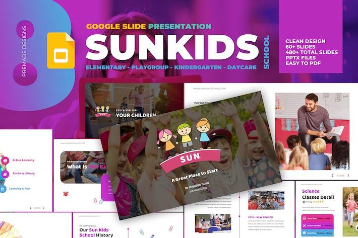 Thumbnail for School Kindergarten Playgroup Daycare Google Slide