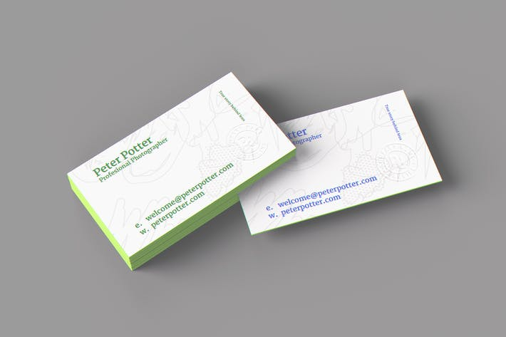Cover Image For Business Card MockUp v3
