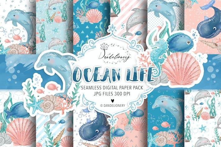 Thumbnail for Ocean Life Digitalpapierpack