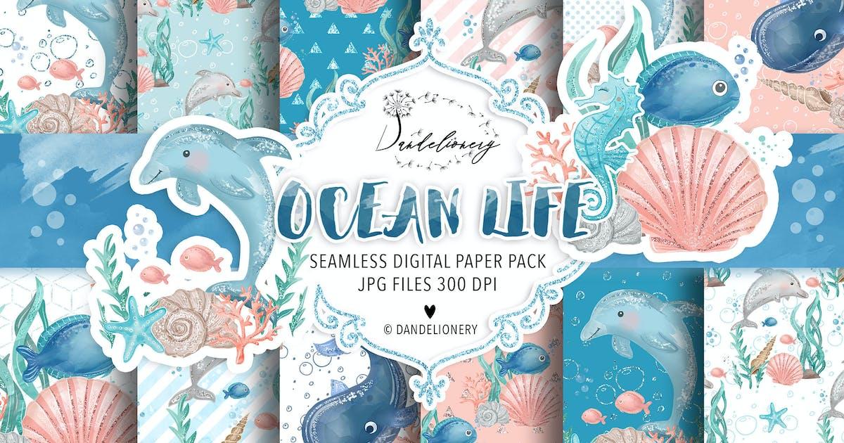 Download Ocean Life digital paper pack by designloverstudio