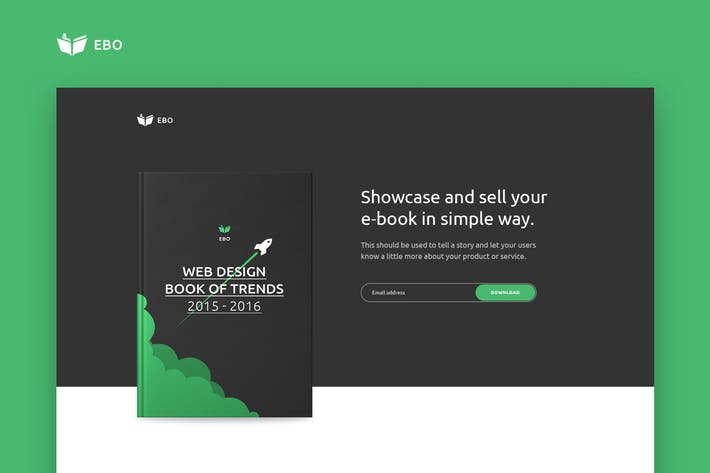 Thumbnail for Ebo - Ebook Landing Page  HTML Template
