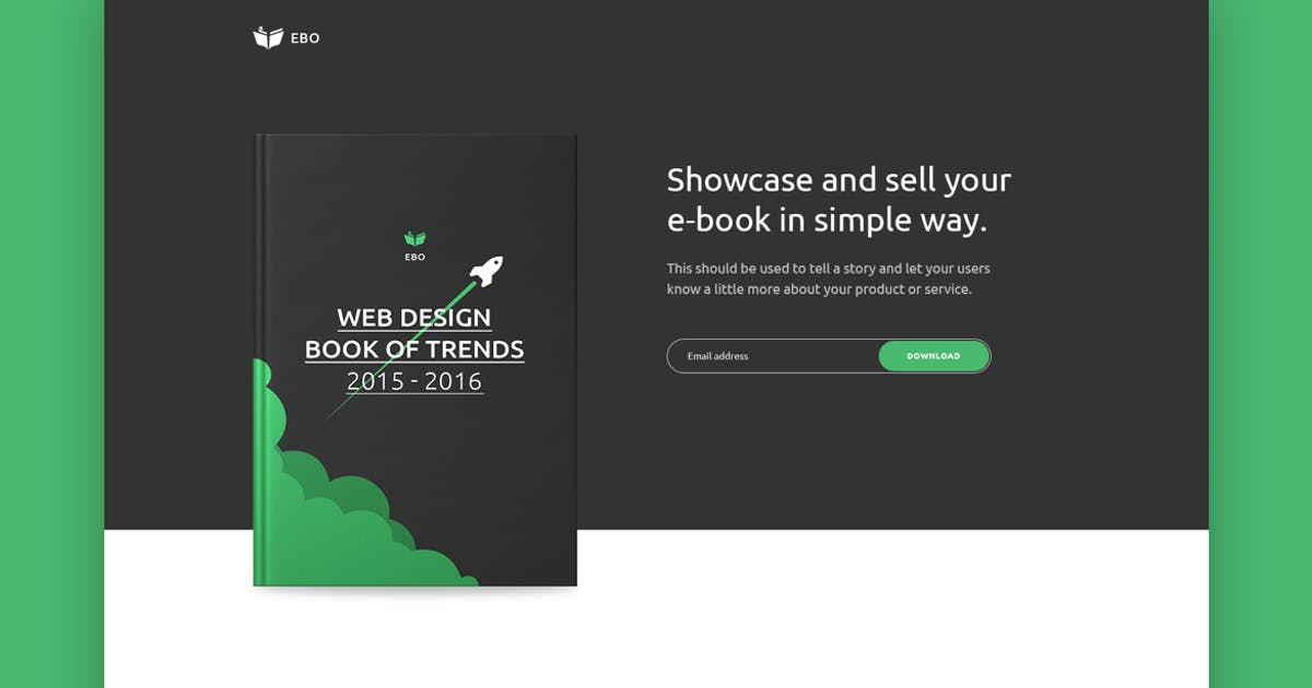 Ebo - Ebook Landing Page  HTML Template by zytheme