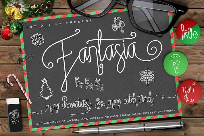 Thumbnail for Fantasia - Script Monoline Font