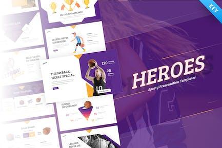 Heroes Creative Sport Basketball Keynote Template