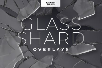 Realistic Glass Shard & Broken Frame Overlays Pack