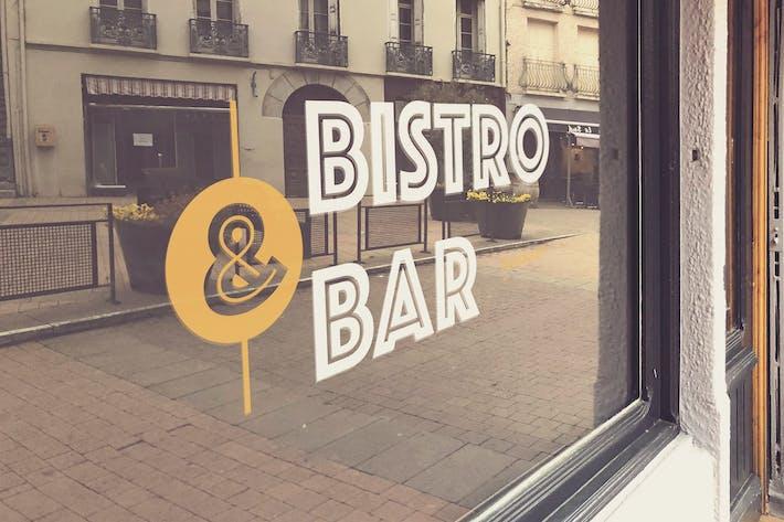 Thumbnail for Shop Window Logo Mockup