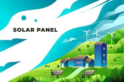 Solar Panel - Vector Illustration